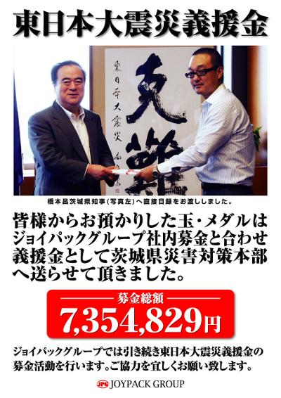 東日本大震災義援金の寄託